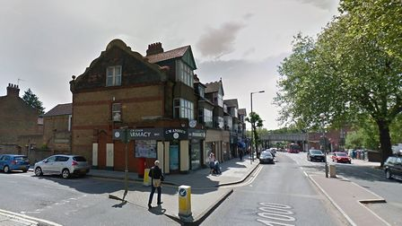 The junction between the High Road and Baronsmere Road in East Finchley which has been subject to an