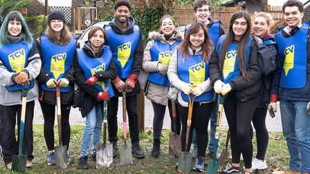 The Conservation Volunteers helped plant 3,500 trees in West Hampstead. Picture: Mark Slater