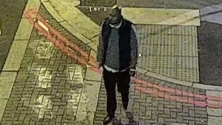 Jonathan Graden captured on CCTV before raping a woman in Spitalfields.
