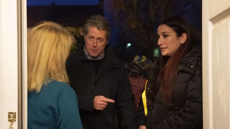 Liberal Democrat's candidate for Finchley and Golders Green, Luciana Berger and Hugh Grant canvassin