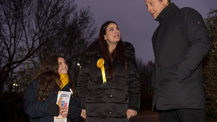 Liberal Democrat's candidate for Finchley and Golders Green, Luciana Berger, with goddaughter Isla R
