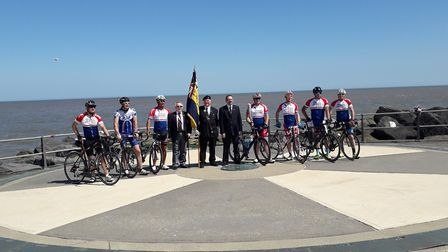 The RAF baton relay has arrived at Ness Point in Lowestoft. Picture: Sarah Foote