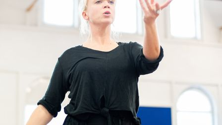 Frances Marshall in rehearsals for The Snow Queen at Park Theatre picture Giorgis Minyahil Kifle