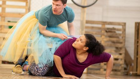 Matt Cavendish and Paula James in Rehearsal for The Snow Queen at Park Theatre Giorgis Minyahil Kifl