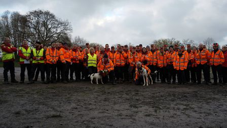 London Search and Rescue's team on Hampstead Heath during a training exercise on Sunday November 24.