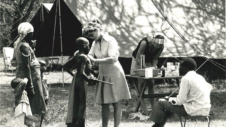 "Dr Micky Day during her work as a ""flying doctor"" in east Africa. Picture: Jeremy Day"