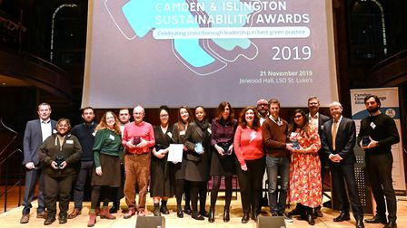 The Camden winners at the Camden and Islington Sustainability Awards. Picture: Justin Thomas