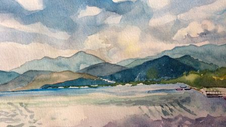 Turkish Seascape by Jane Bednall.
