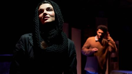 Katie Eldred and Kwami Odoom in Hunger at Arcola Theatre. Picture: Alex Brenner.