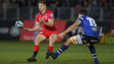 Saracens' Owen Farrell during the Gallagher Premiership match at the Recreation Ground, Bath.