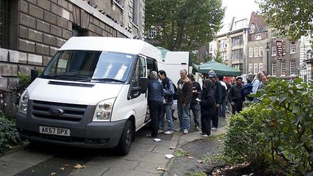 The Simon Community uses its van to distribute hot food and to work with rough sleepers. Picture: Si