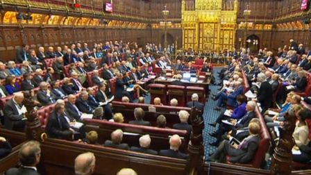 House of Lords debating the rights of EU nationals. Picture: PA WIRE