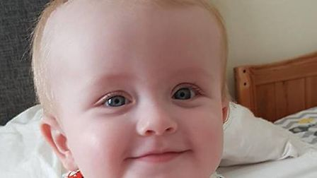 Back home, battling baby Oscar continues his recovery in Lowestoft. Picture: Oscar's family