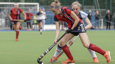 Lauren Turner on the ball for Hampstead & Westminster (pic Mark Clews)