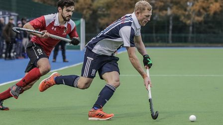 Rupert Shipperley on the ball for Hampstead & Westminster (pic Mark Clews)