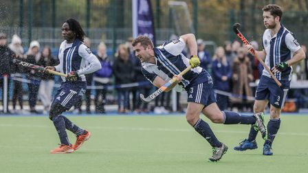 Matt Guise-Brown fires home for Hampstead & Westminster (pic Mark Clews)