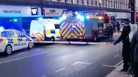 A woman was attacked with a 'substance' in Kentish Town Road. Picture: @skiman63