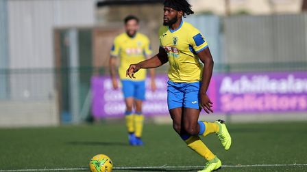 Chid Onokwai of Haringey during Haringey Borough vs Herne Bay, Emirates FA Cup Football at Coles Par