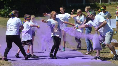 The EACH Colour Dash returned to Lowestoft. Picture: Mick Howes