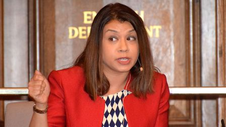 Tulip Siddiq makes a point during the General Election Hustings. Picture: Polly Hancock