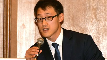 Ham & High's Hampstead and Kilburn Hustings at UCS Frognal on 02.12.19. Conservative Johnny Luk. Pic