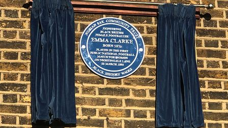 The plaque to Emma Clarke. Picture: Haringey Council