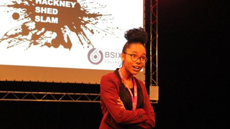 Yandra Pau Baquero (2nd place) from City of London Academy Shoreditch Park won an 18 inch pizza with