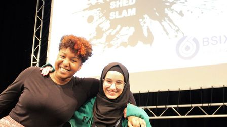 Performers from Hackney Shed's Young Company helped host (Ebony Beckford) and judge (Marwa Boukna) t