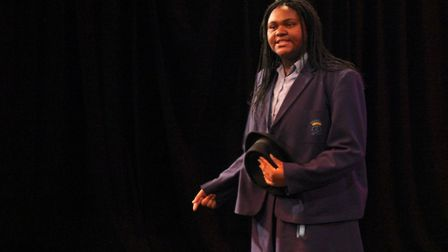Winner of the competition Doris Mbakwe from Our Lady's Catholic High School. Picture: Barry Fitzger