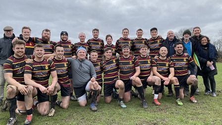 Hampstead RFC face the camera after their huge win over Grasshoppers (Pic: Jon Boyle)