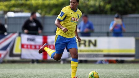 Coby Rowe of Haringey Borough. Picture: George Phillipou/TGS Photo