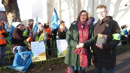 Hackney South and Shoreditch incumbent MP Meg Hillier joined staff at MOLA as they went on strike ov