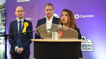 """Tulip Siddiq used her re-election speech to thank supporters, telling them: """"We have to win next tim"""