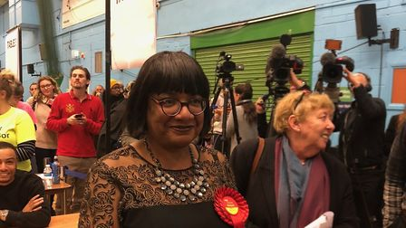Diane Abbott has retained her seat in Hackney South and Shoreditch. Picture: Emma Bartholomew