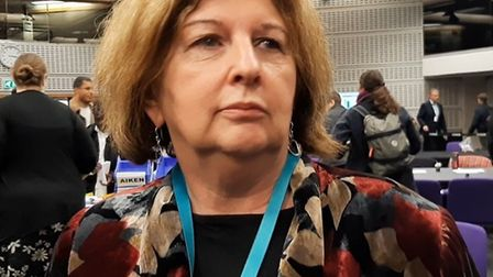 Karen Buck at the Westminster North general election count. Picture: Julia Gregory, LDRS