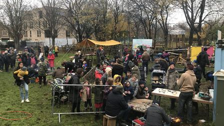 The event brought the community together and outside to appreciate nature and the winter. Picture: M
