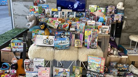 The Toy Appeal has collected more than 4,000 gifts for children. Picture: Jenna Fansa