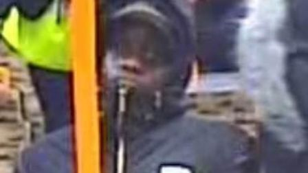 One of the people police want to speak to following an attack in Amhurst Park. Picture: Met Police