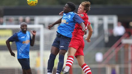 Henry Ochieng of Wingate and Mickey Parcell of Hornchurch during Hornchurch vs Wingate & Finchley, B