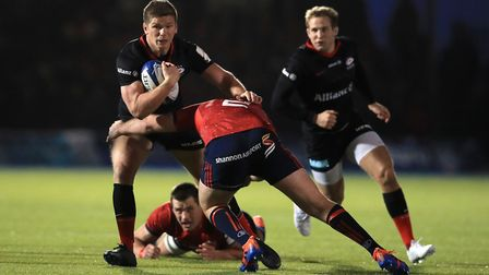Saracens' Owen Farrell during the European Rugby Champions Cup pool four match at Allianz Park, Barn