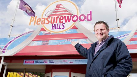 Adam Noble, general manager of Pleasurewood Hills theme park. Picture: Nick Butcher.