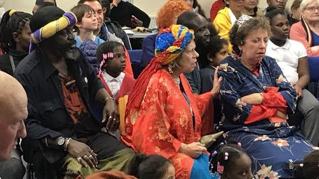 Sleeping Beauty makes her way through the audience. Picture: Jo Carter