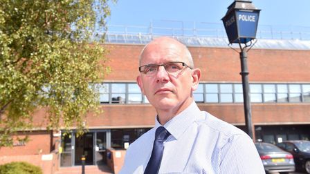 DCI Barry Byford outside Lowestoft Police Station.Picture: Nick Butcher
