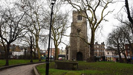 St John at Hackney churchyard. Picture: Ken Mears