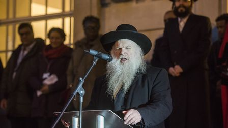 Rabbi Herschel Gluck OBE, gave a speech at Hackney Council�s first-ever dedicated Hanukkah event. Pi