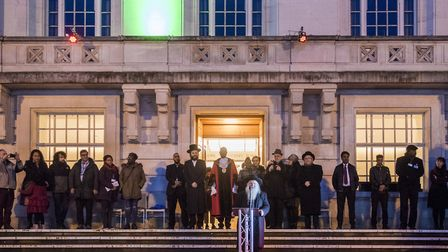 Hackney Council�s first-ever dedicated Hanukkah event saw the lighting of a specially built 12ft men
