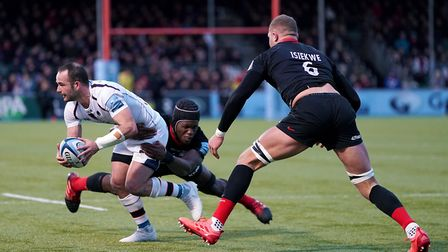 Worcester Warriors' Jono Lance (left) is tackled by Saracens' Maro Itoje during the Gallagher Premie