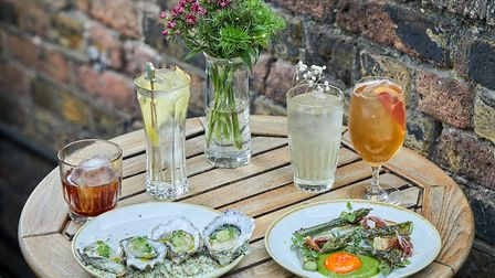 The Petit Pois bistro in Hoxton Square is serving all St-Germain cocktails with oysters, steak tarta