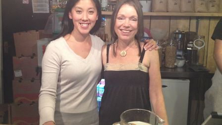 Finsbury Park 'death cafe' founders Liz Wong (L) and Caroline Dent at Blighty Coffee. Picture: Sophi