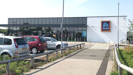 Police are appealing for witnesses after an attempted burglary at Aldi in Lowestoft. Picture: Amy Sm